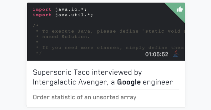 Recordings of mock interviews with Google engineers   free anonymous
