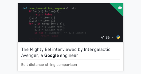 Recordings of mock interviews with Google engineers | free